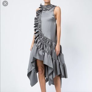 Grey Rouched dress